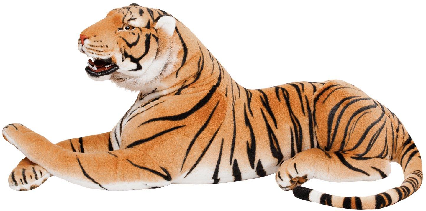 BRUBAKER gigante peluche tigre con dientes de color marrón ...