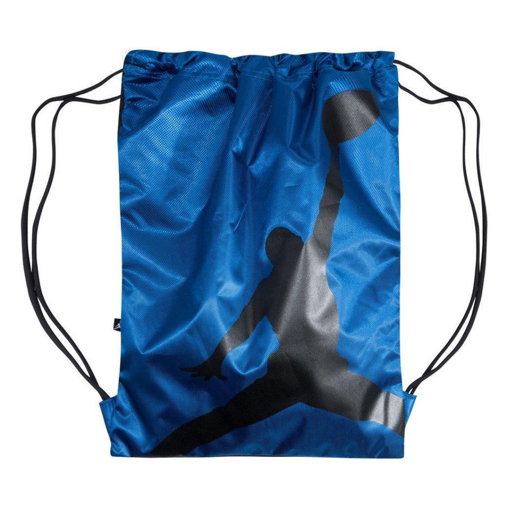 acbd8059e0 NIKE Air Jordan Illusion Hybrid Photo Real Drawstring Gymsack Backpack  Sport Bookbag Gear Tote (University Royal Blue Black)  Amazon.co.uk   Clothing
