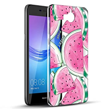 Huawei Y6 2017 Case, Huawei Y5 2017 Case, Eouine Shockproof Protective Case  Clear with Pattern Slim Soft TPU Silicone Gel Bumper Cover Skin for Huawei