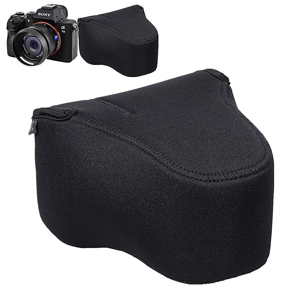 JJC Camera Case Pouch Sony A7III A7RIII A7II A7SII A7RII A7 A7R A7S + FE 28-70mm f3.5-5.6/24-70mm f4 / 16-35mm f4 / 50mm f2.8 / 55mm f1.8 / 85mm f1.8 Lens & RX10 II III IV -5.6'x3.9'x6.0'-Black Jinjiacheng Photography Equipment Co. Ltd.