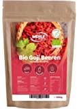 Bio Goji Beeren 1kg ungeschwefelt, sonnengetrocknet, ohne Zusätze Original Goji Wolfsbeeren - 1000g Gojibeeren - Wehle Sports