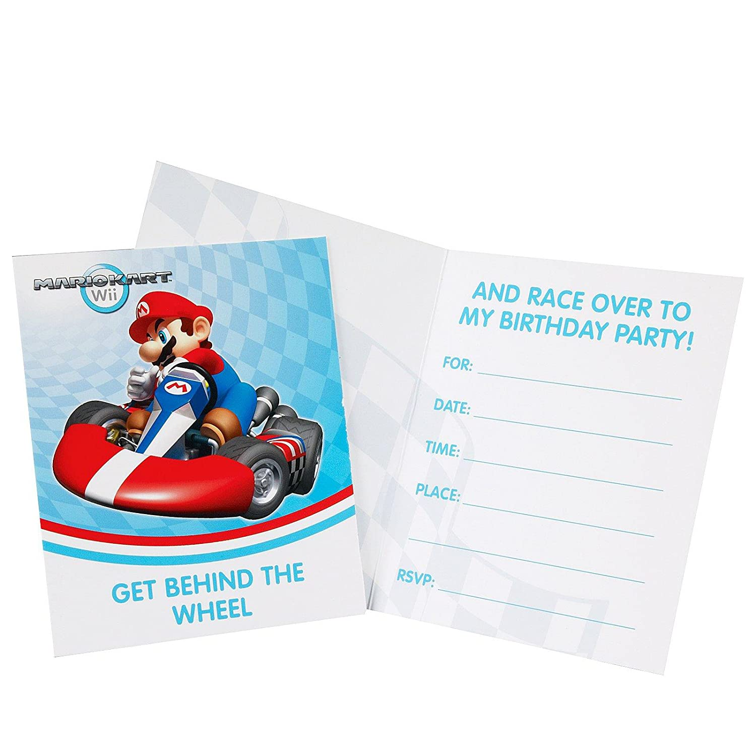 Amazon.com: Mario Kart Wii Invitations (8): Toys & Games