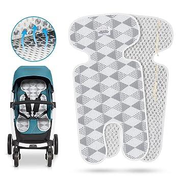 Asiento para transpirable, komake universal asiento para carrito, Buggy, infantil Asiento y Baby Cuenco - Reduce sudor de su hijo y protege el asiento de ...