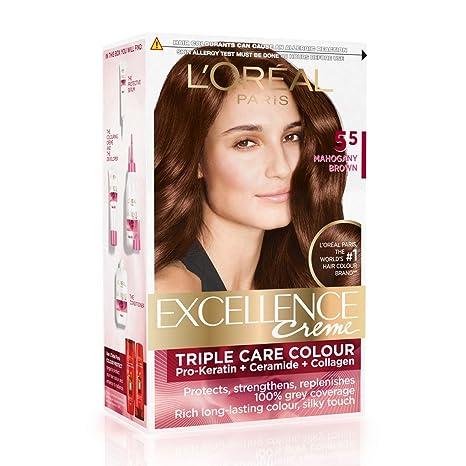 Buy Loreal Paris Excellence Creme Hair Color 55 Mahogany Brown