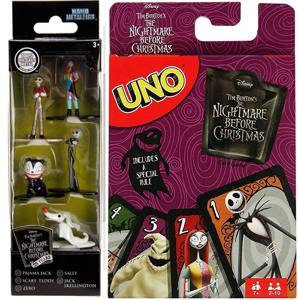 Amazon.com: Jack NBX Nightmare Go! UNO Card Game Nightmare Before ...
