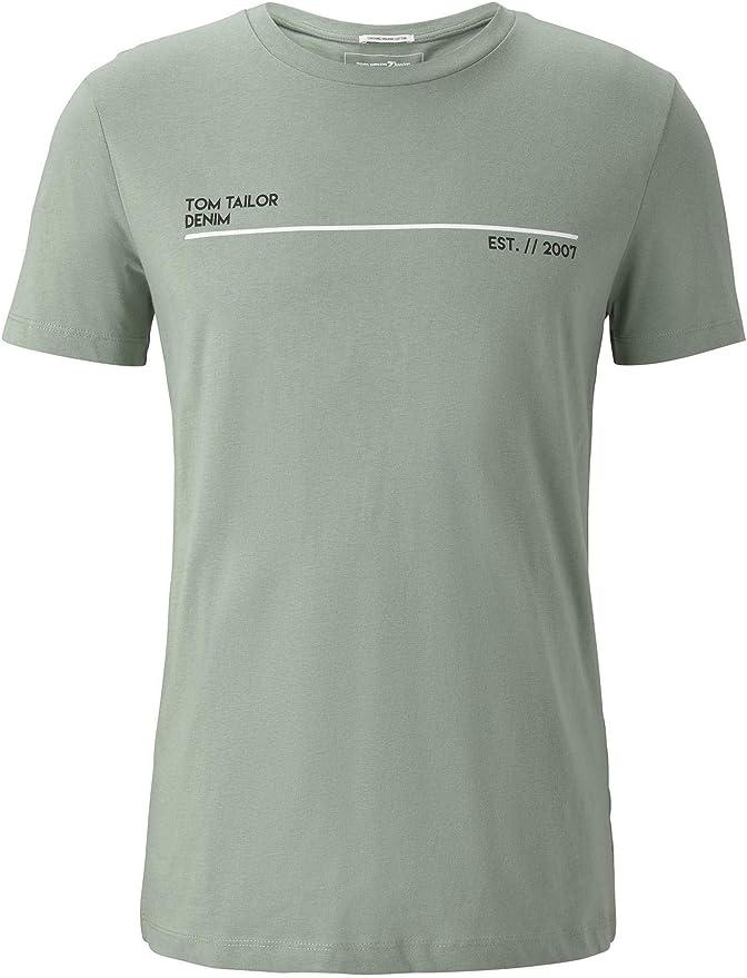 TOM TAILOR Denim Rundhals Camiseta para Hombre: Amazon.es: Ropa y accesorios