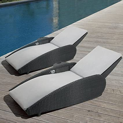 Amazon.com : Ove Decors Sevilla 2 pk Grey Outdoor Lounge ...