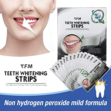 Amazon Com Charcoal Teeth Whitening Strips Y F M Professional At