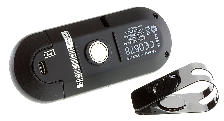 SuperTooth Buddy 2.1 Bluetooth Visier KFZ-Freisprecheinrichtung f/ür Sonnenblende mit Handyhalterung Wei/ß