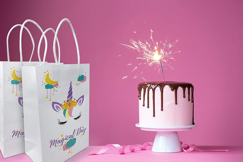 Amazon.com: Sukonu Unicorn Party - Bolsas de papel decoradas ...