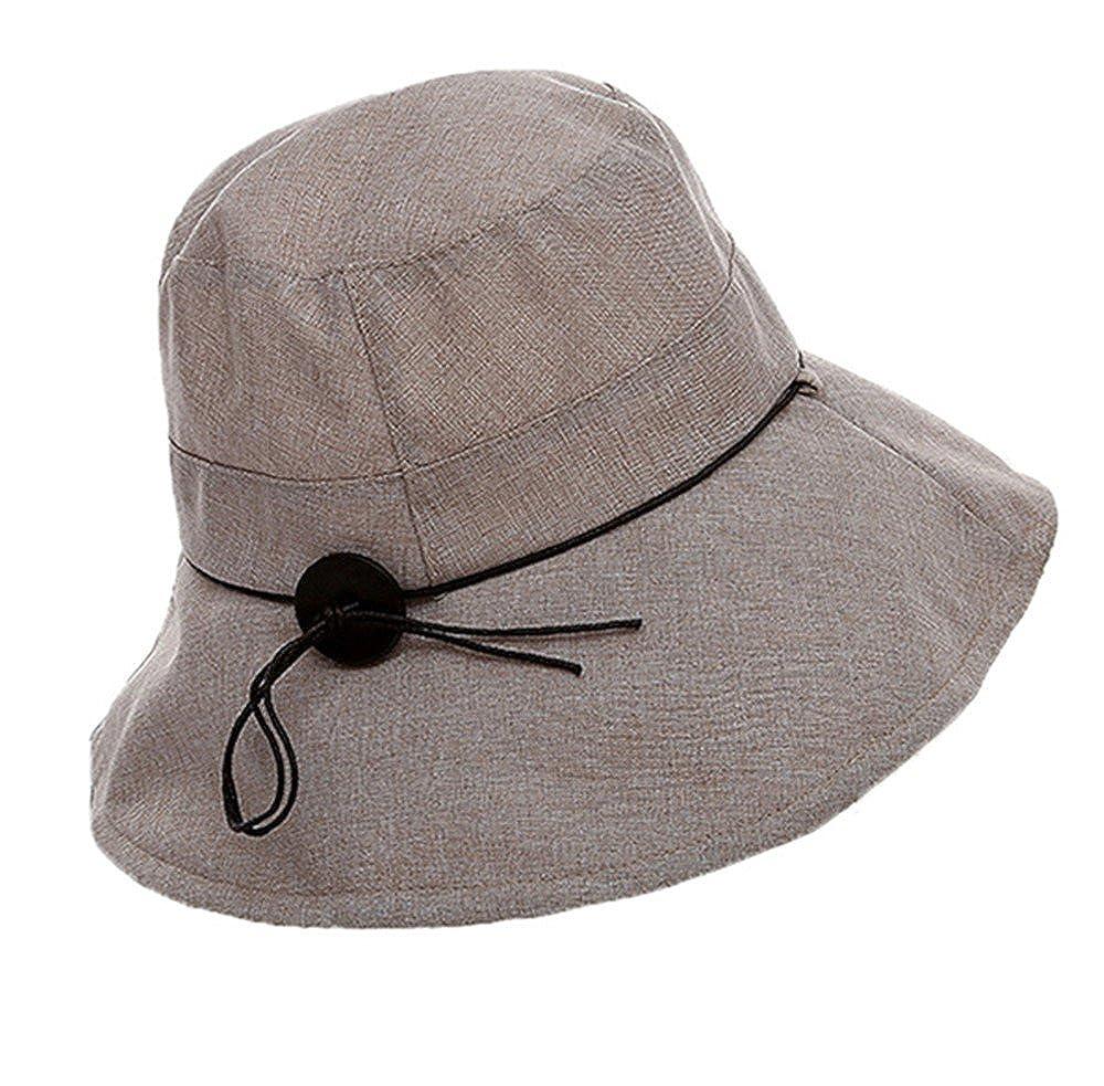 e6afa7e0 doublebulls hats Cotton Pananma Bucket Hats Women Ladies Adult Bowknot  Summer Sun Hats Fishermen Hat Beige