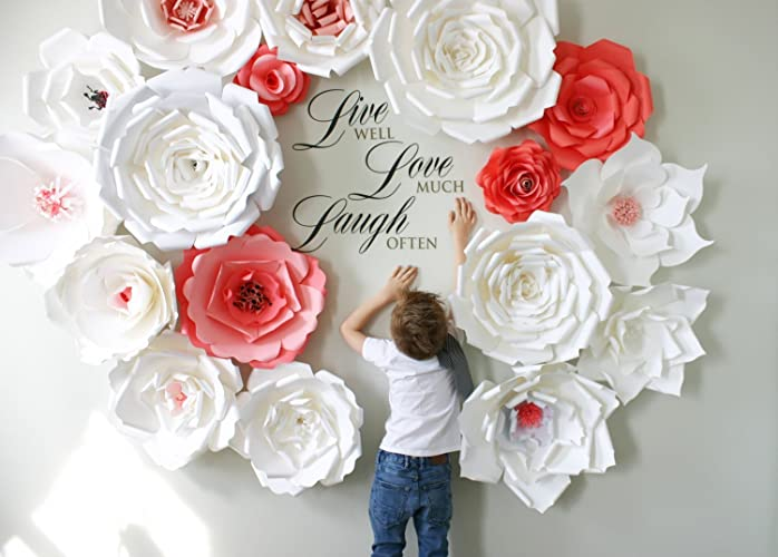 Amazon paper flower backdrop giant paper flowers wall paper paper flower backdrop giant paper flowers wall paper flower wall wedding wall mightylinksfo