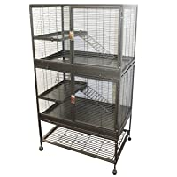 Exotic Nutrition Mansion Cage - Durable 100% All-Metal Multi-Level Cage for Chinchillas