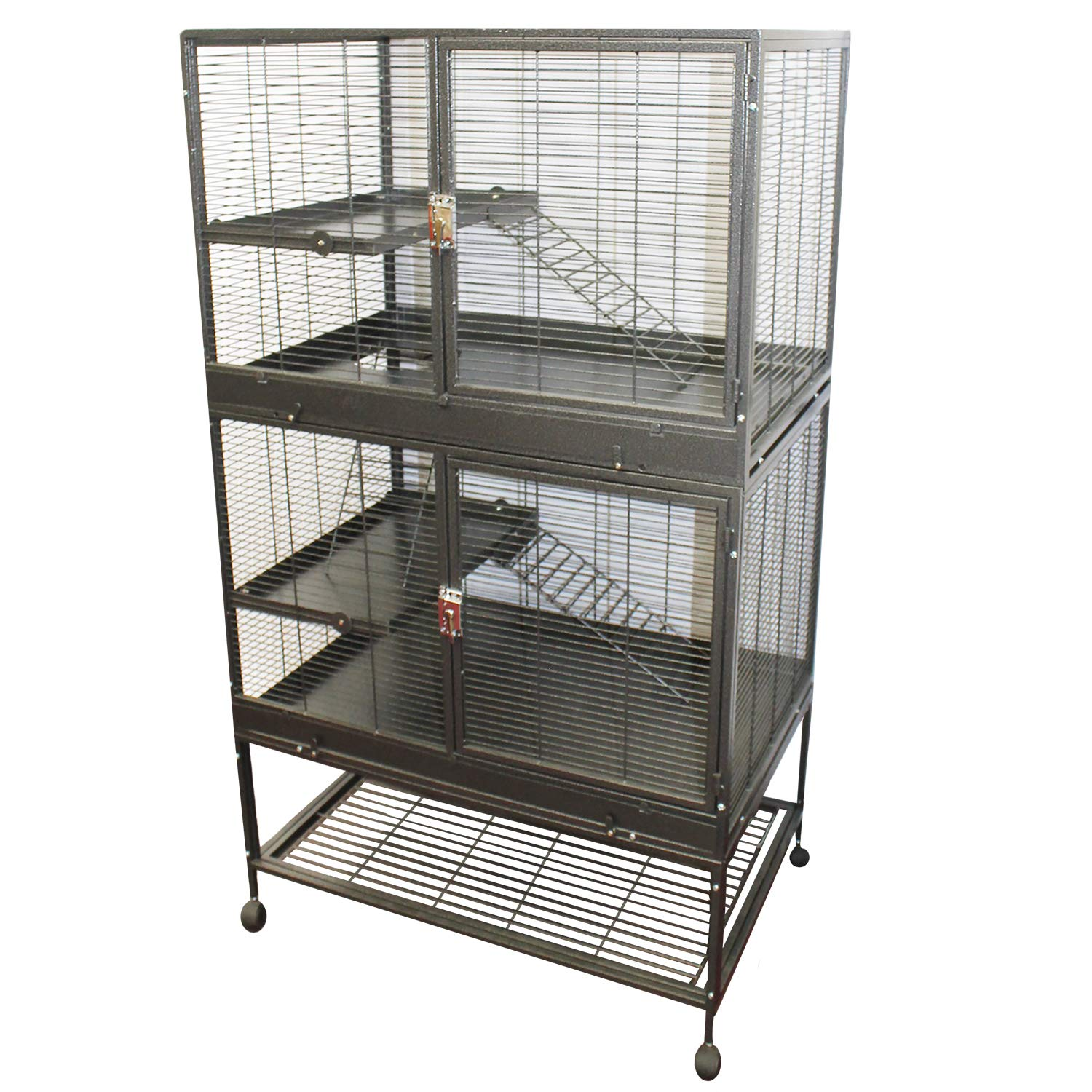 Exotic Nutrition New! Durable All-Metal Mansion Cage for Chinchillas, Rats, Ferrets, Degus, Prairie Dogs (4-Level) by Exotic Nutrition