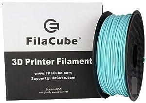 PLA 3D Printer 1.75mm Filament Mint Blue (Delicate Combination of Green, Blue and a hint of White) - 1kg FilaCube PLA 2 Light Blue Filament -polylactic Acid Plus pro pla+ pla++ plapro propla plaplus