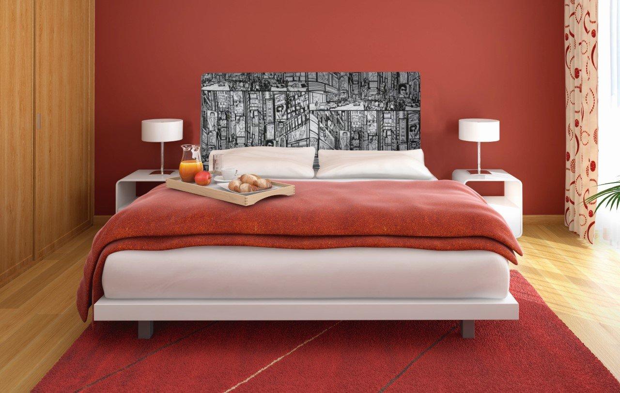 Suenoszzz New York Kopfteil für Betten mit 90 cm 160 x 120 cm Weiß   Schwarz