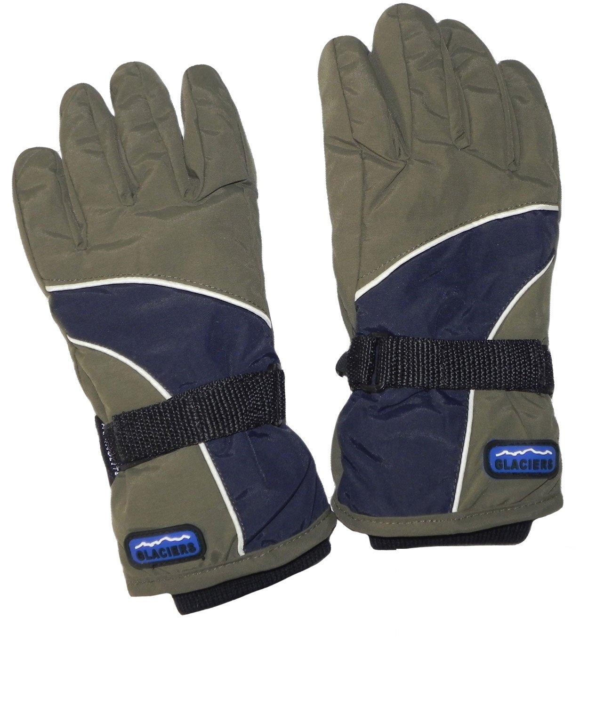 EveryHead Mädchenhandschuhe Thermohandschuhe Handschuhe Fingerhandschuhe Winterhandschuhe zweifarbig mit Teflon Beschichtung für Kinder (PT-5510-W16-MA0) inkl Hutfibel
