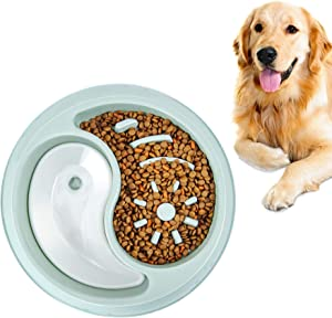 YIYUN Slow Feeder Dog Bowls Fun Feeder Non Slip Interactive Bloat Stop Dog Bowl Anti-Gulping Food and Water Slow Bowl Perfect for Large Medium Small Pet Dogs