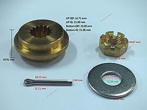 Asaki Propeller Hardware Kit for Tohatsu Nissan 9.9-20 HP 4-Stroke 3V9-87326-0, New