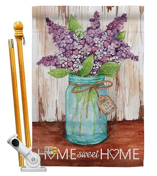 Breeze Decor HG100065 Welcome Lilacs Home Sweet Jar ...