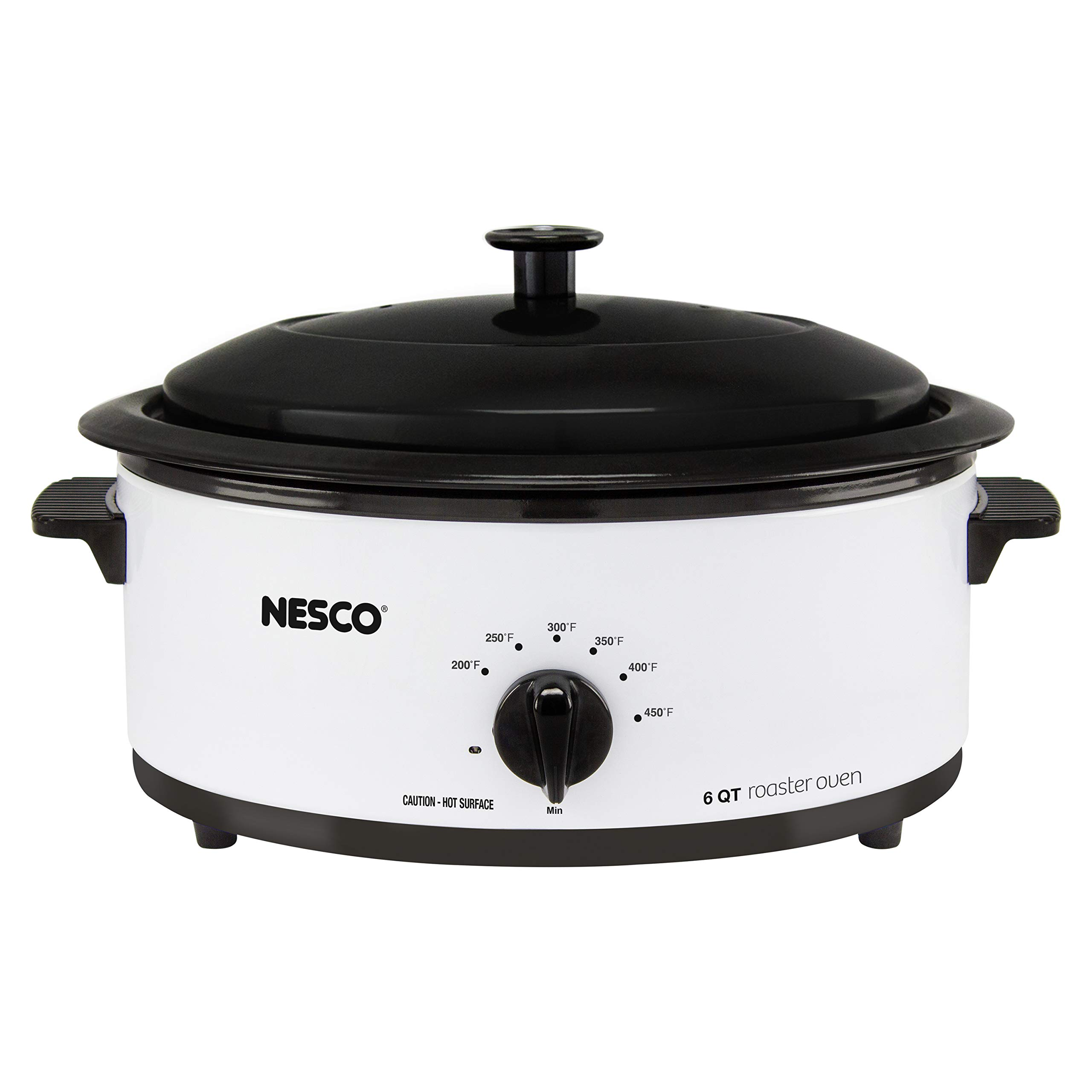 Nesco 4816-14 Porcelain Roaster Oven, 6 quart, White by Nesco