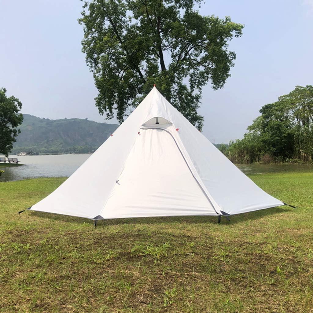 CUTICATE Refugio Al Aire Libre Impermeable De La Sombra del Sol De La Tienda De La Pirámide para Acampar Que Hace Excursionismo Gris blanco