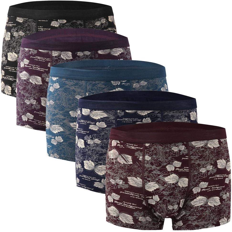 Herren Boxershorts Vintage Druck Baumwolle Retroshorts 5pc Soft Unterw/äsche Unterhose Shorts H/öschen Bequem Atmungsaktiv
