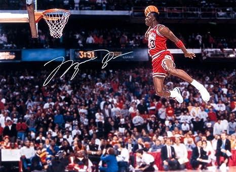 la meilleure attitude 67c8b ad173 Kirkland Signature Michael Jordan, Chicago Bulls 8 X 10 Photo Autograph on  Glossy Photo Paper