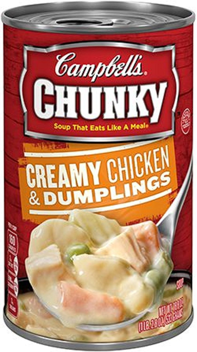 Campbell's Chunky Creamy Chicken and Dumpling Soup, 18.8-Ounce (Pack of 6)