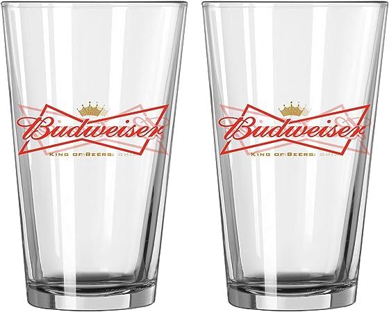 Budweiser 2 unidades vasos de pinta: Amazon.es: Hogar