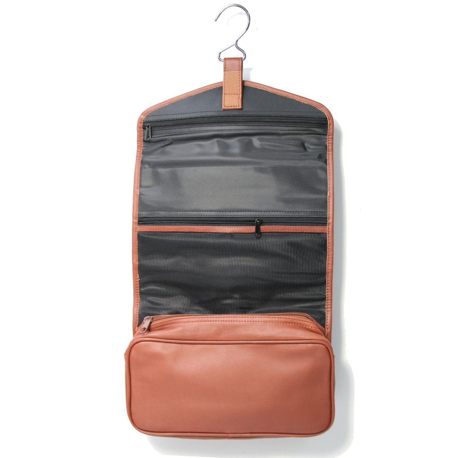Royce Leather Hanging Toiletry Bag (Tan) by Royce Leather
