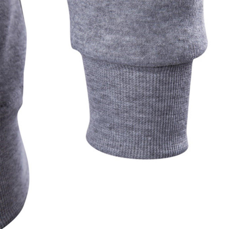 Terrcmaily Hoodies Men Hip Hop Decorative Pocket Patchwork Sweatshirt