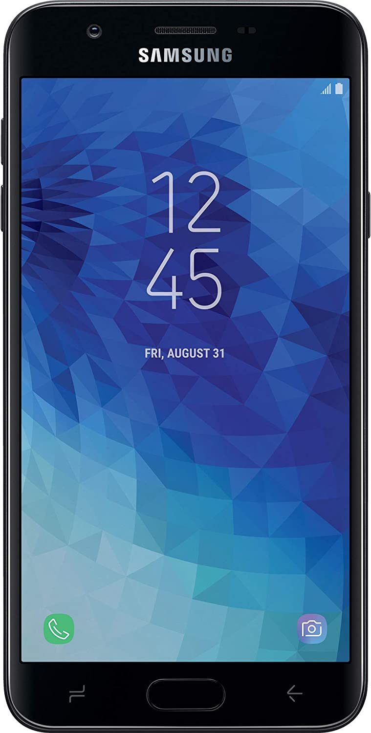 Total Wireless Samsung Galaxy J7 Crown 4G LTE Prepaid Smartphone (Locked) - Black - 16GB - Sim Card Included - CDMA