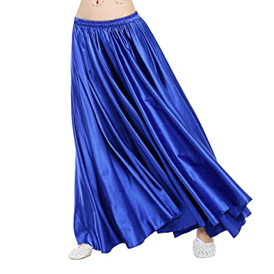 Amazon.com : Dance Fairy Satin Long Skirt, Royal Blue : Sporting ...