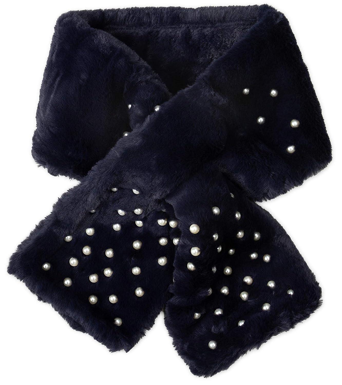 Caspar SC482 Bufanda de Piel Sintética con Perlas para Mujer