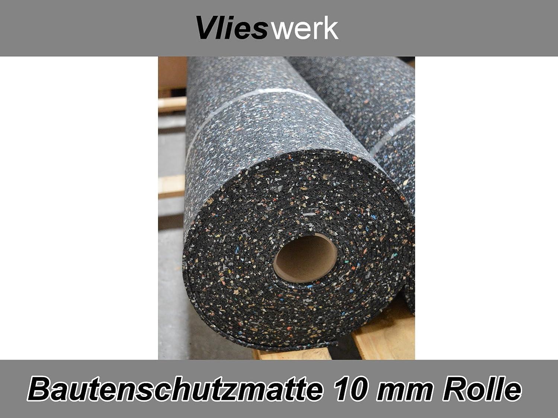 Gummimatte Bautenschutzmatte 10 mm 1,25 m x 6 m Antivibrationsmatte