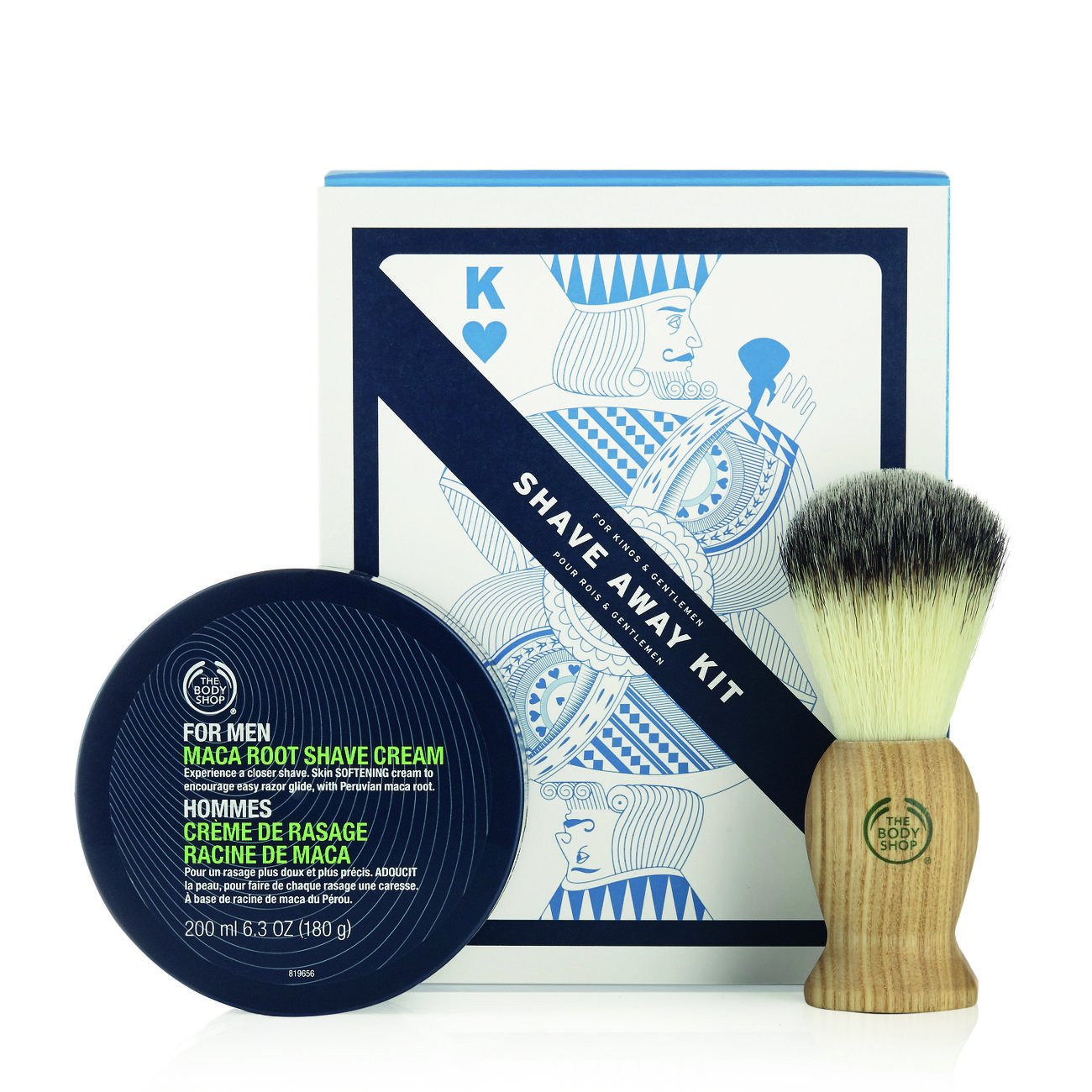The Body Shop Shave Away Kit, 2pc Paraben-Free Shave Kit for Men Buth-na-Bodhaige Inc d/b/a The Body Shop AHGRD006793