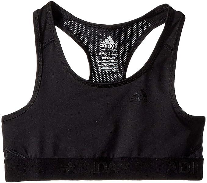 ee80f1121db adidas Kids Girl s Gym Bra (Big Kids) Black X-Large at Amazon ...