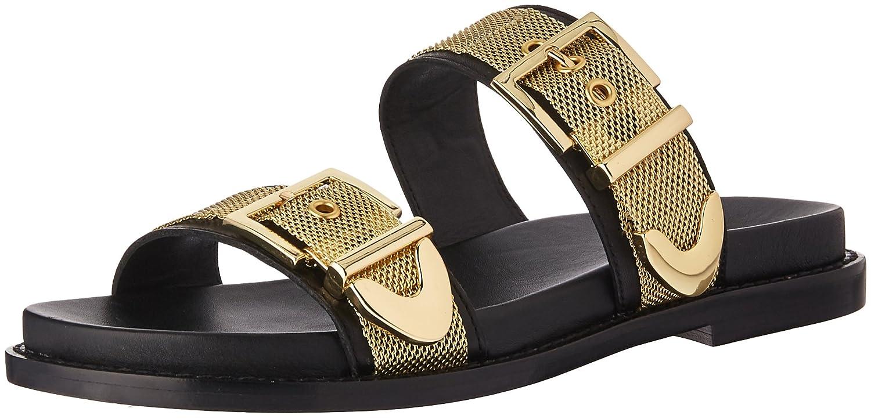Ash Women's AS-Mona Slide Sandal B07579L17T 38 M EU (8 US)|Black/Gold