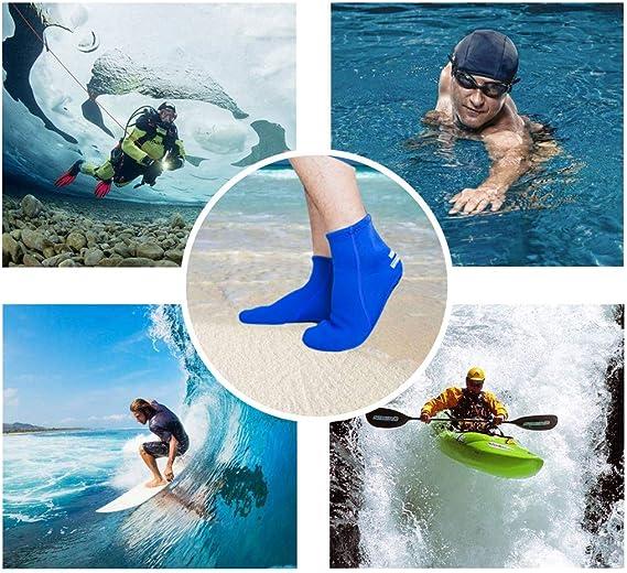 Swimming /& All Water Sports Snorkeling Dwave WACOOL 3mm Neoprene Beach Aqua Yoga Socks for Sand Playing Scuba Diving