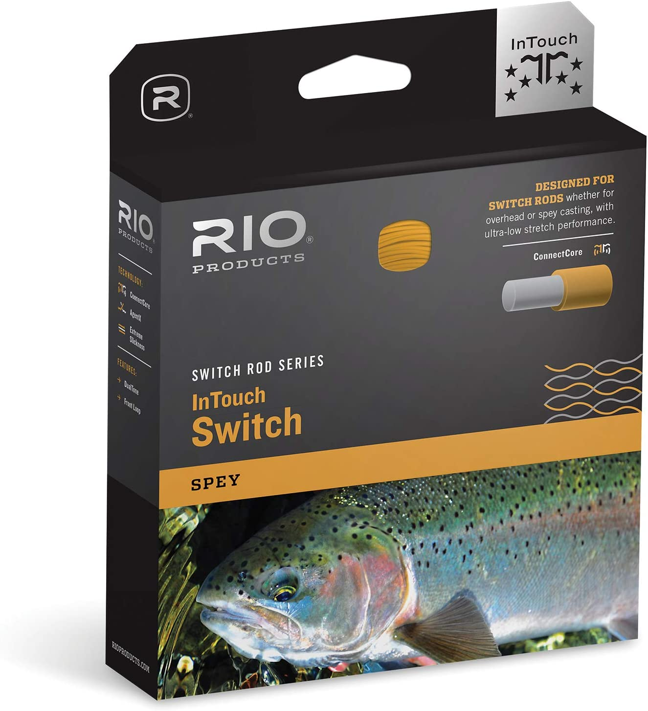 RIO Products Fly Line Intouch Switch Line 5/6F Beige/Pale Green, Beige-Pale-Green