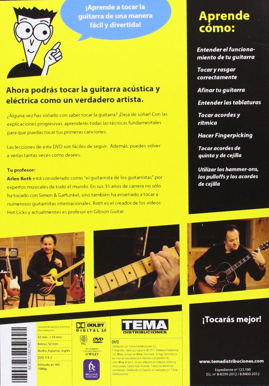 Para Dummies: Guitarra Acústica + Guitarra Eléctrica DVD: Amazon.es: Arlen Roth: Cine y Series TV