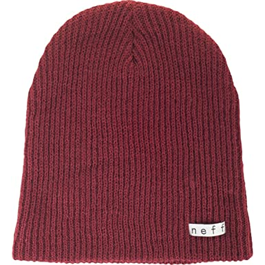 5a636a3bfd1 Amazon.com  Neff Men s Daily Beanie Maroon  Clothing
