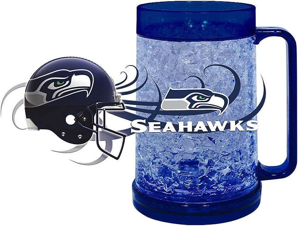 HUNTER NFL Seattle Seahawks Freezer Mug (16-Ounce), Large, Navy