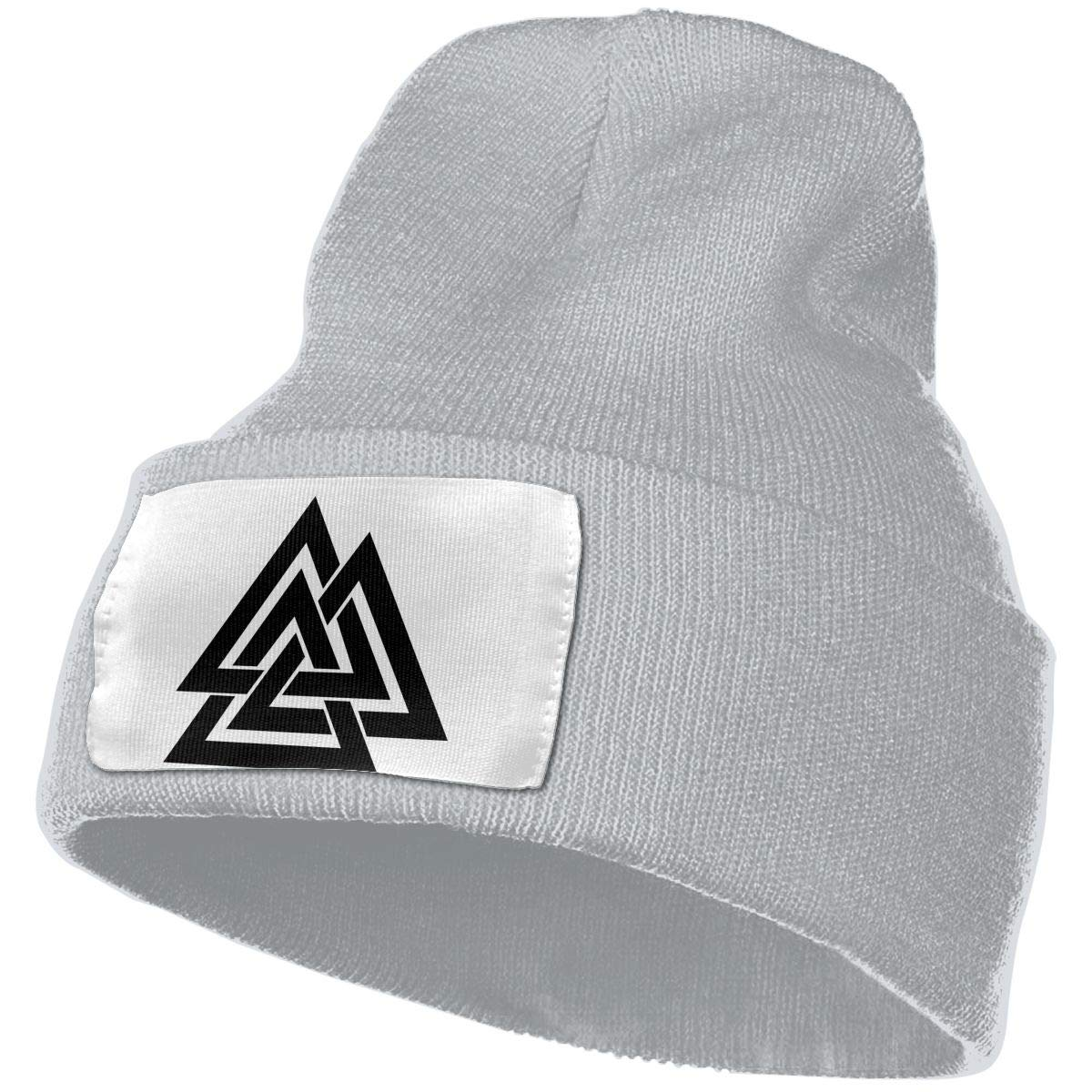 Valknut Men/&Women Warm Winter Knit Plain Beanie Hat Skull Cap Acrylic Knit Cuff Hat