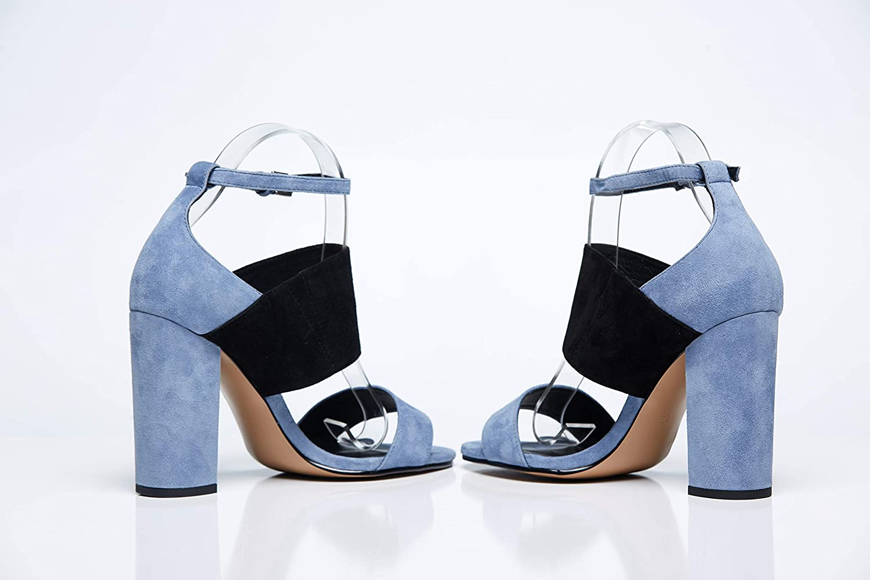 c6bf17aa59013 Amazon.com: SARA Classy Blue And Black Elegant unique Chic Stiletto ...