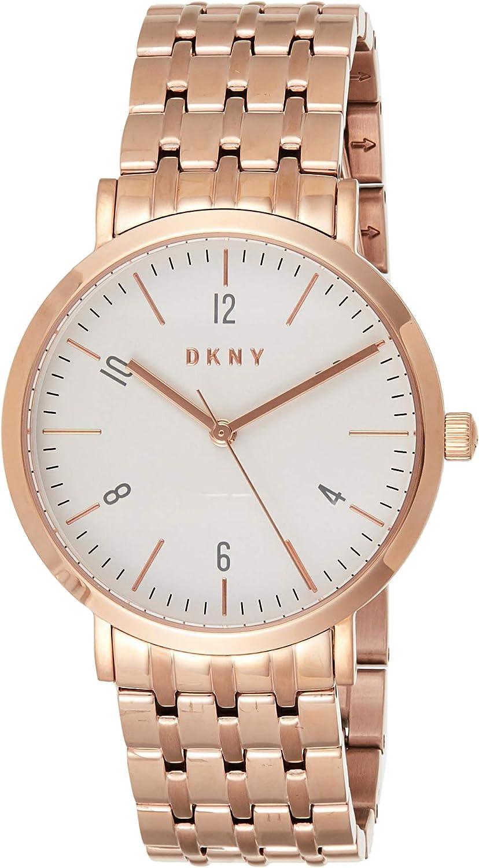 DKNY Minetta Reloj de cuarzo para mujer de acero inoxidable