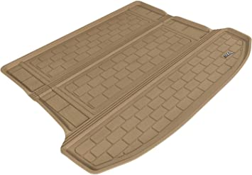 Kagu Rubber 3D MAXpider Second Row Custom Fit All-Weather Floor Mat for Select Cadillac SRX Models Tan