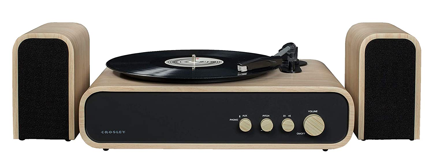 Crosley Gig Retro Belt-Drive Bluetooth Turntable with Aux-in ...