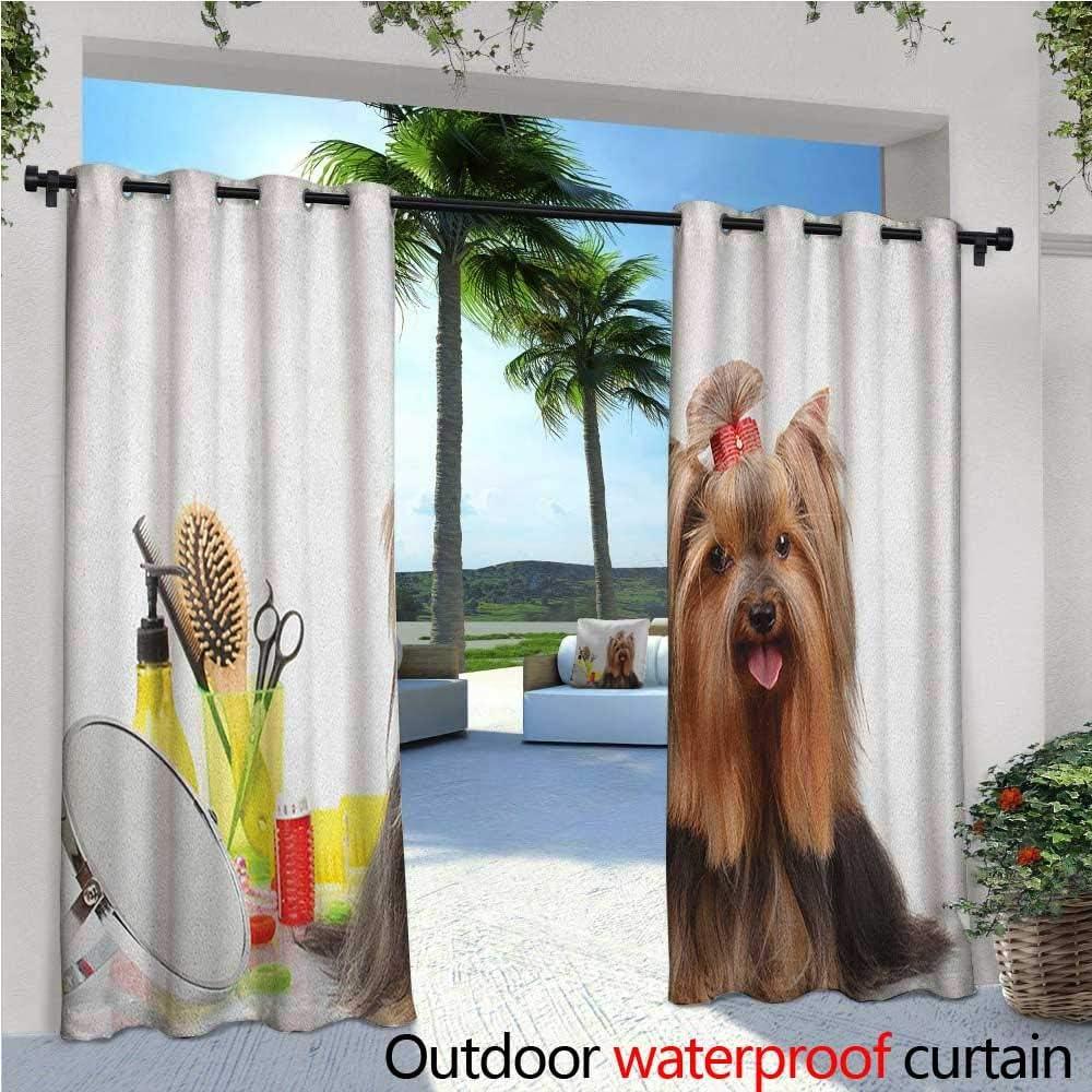 familytaste Yorkie - Cortinas de balcón Yorkshire Terrier con ...